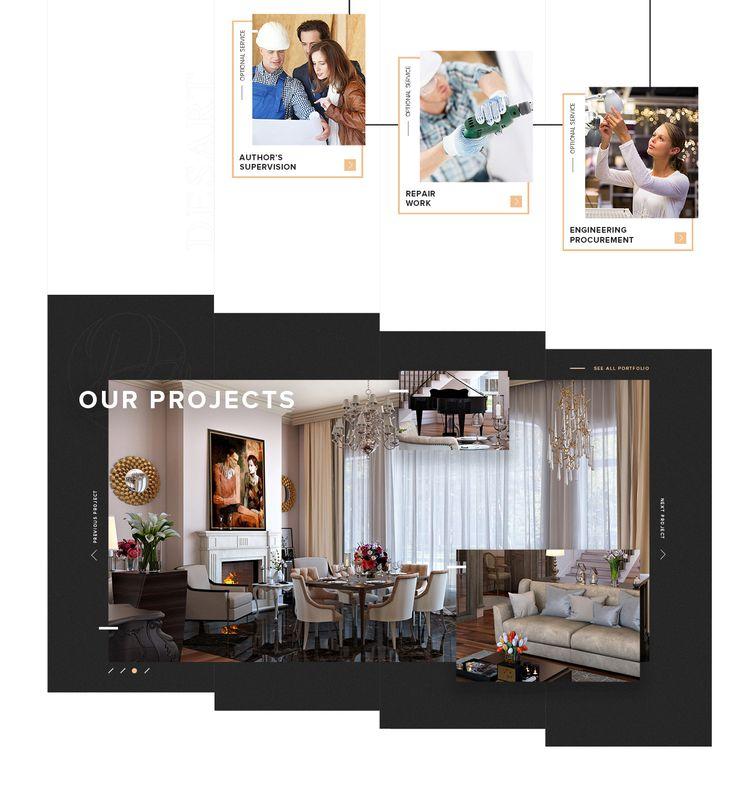 Desartdecor - Interior design website on Behance