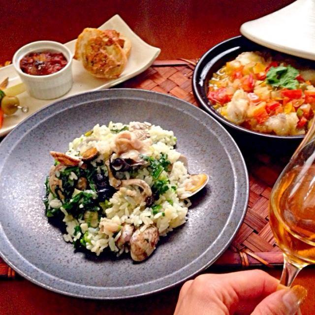 昨夜の残りのリメイクと、あんこう鍋セットを使ってスペイン料理 - 84件のもぐもぐ - Tonight Amigo's Spanish Dinnerあんこう鍋セットでスパニッシュ〜 by honeybunnyb