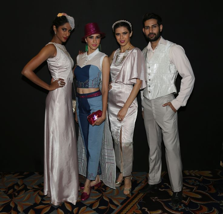 Sheila Tiruchy, Alesia Raut, Sucheta Sharma James and Shahnawaz Alam at SNDT-AMD's Chrysalis fashion show