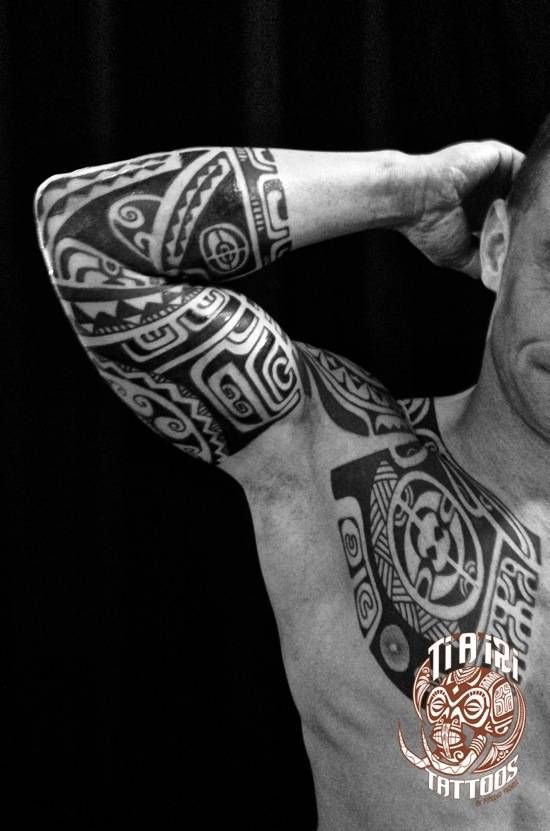 Polynesian Sleeves / Arm Tattoos - Ti'a'iri Polynesian Tattoo