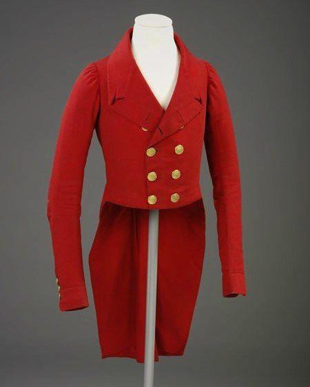 Hunting coat, 1810-20, Great Britain.