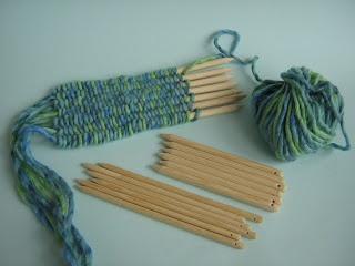 mooie maaksels: Weven op stokjesweven weven doe je zo