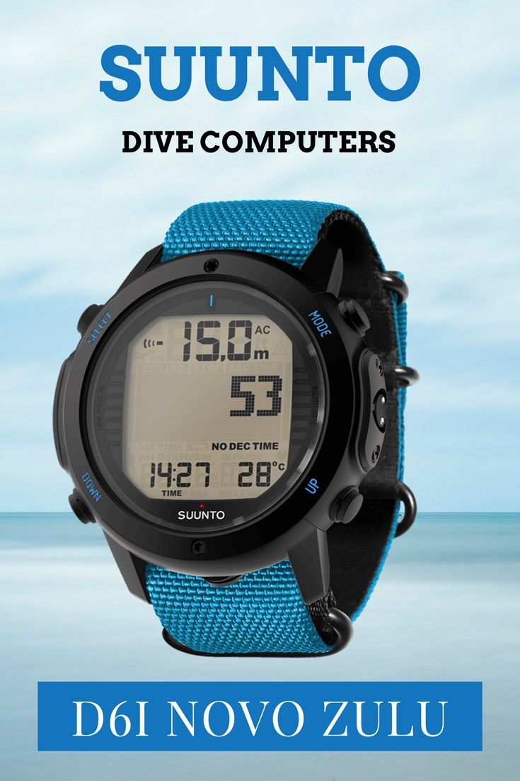 Suunto D6i Novo Zulu Blue wrist mounted diving computer - Now with Zulu band making this a dive computer that can also be worn as an every day watch. For those serious about their diving. Read my review at: https://watchyourselves.com/suunto-d6i-novo-diving-computer-review/