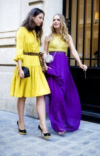 Yellow dress worn by Tatiana Santo Domingo