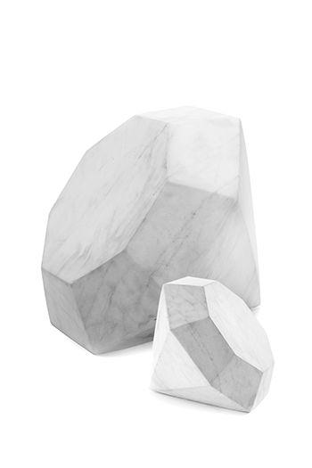 Kelly Wearstler super diamonds, hand carved from white cararra marble. XK #kellywearstler