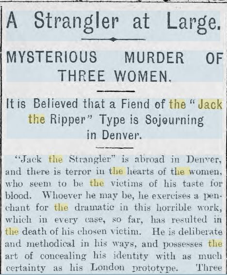 The Strangler.....In Denver - Jack The Ripper Forums - Ripperology For The 21st Century