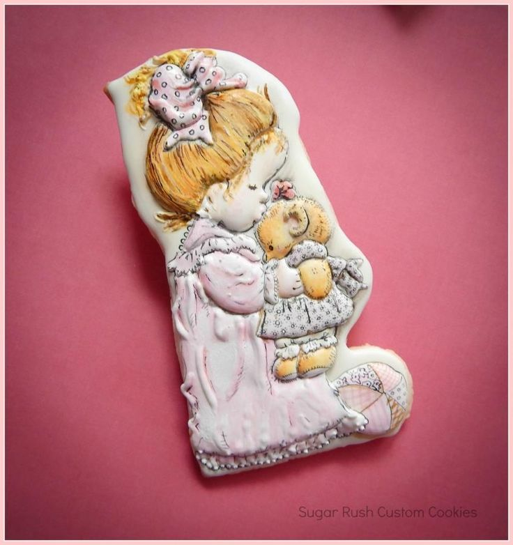 Baby Themed cookie - Cake by Kim Coleman (Sugar Rush Custom Cookies) Based on the illustrations of Sarah Kay.