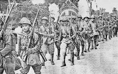 Einmarsch von Thai-Truppen im kambodschanischen Battambang (ក្រុងបាត់ដំបង) , 1941. Pin by Paolo Marzioli