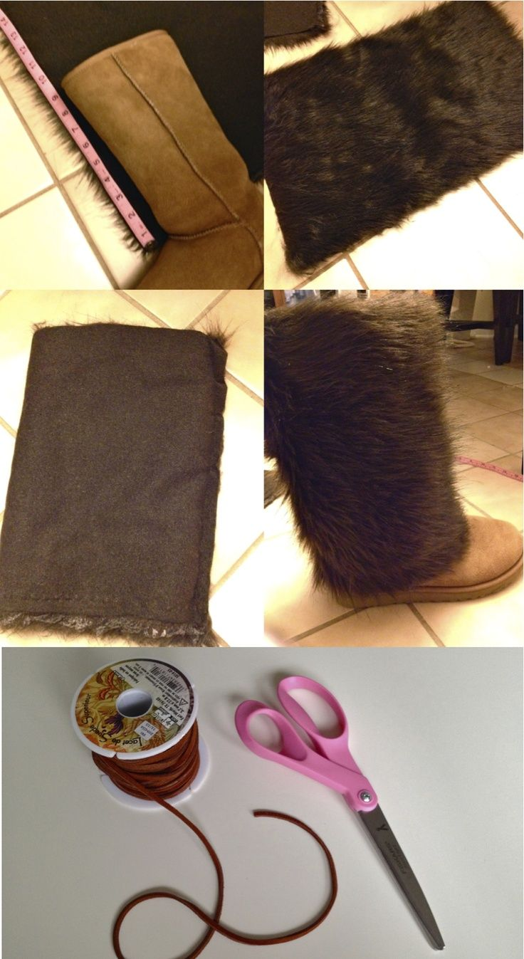 DIY: Fur boot covers