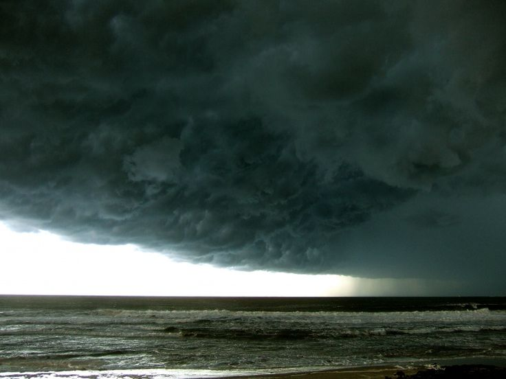 Queensland / Coolum Beach---rain coming in from sea! just amazing.