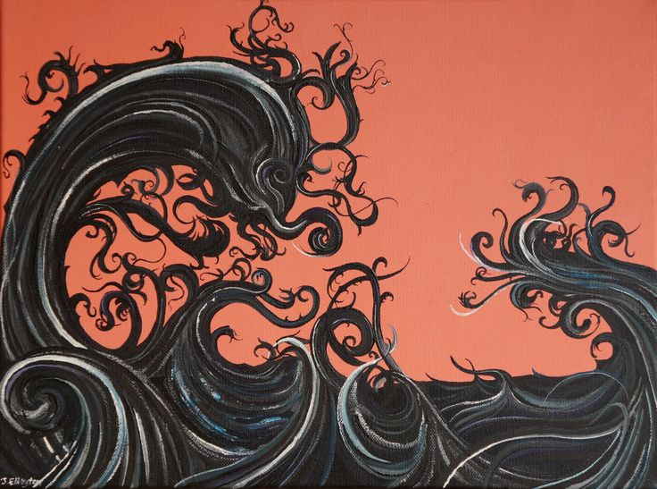 'Incoming', oil on canvas, 30.5 x 40.5cm. www.jeremyelkington.weebly.com For sale at: www.bluethumb.com