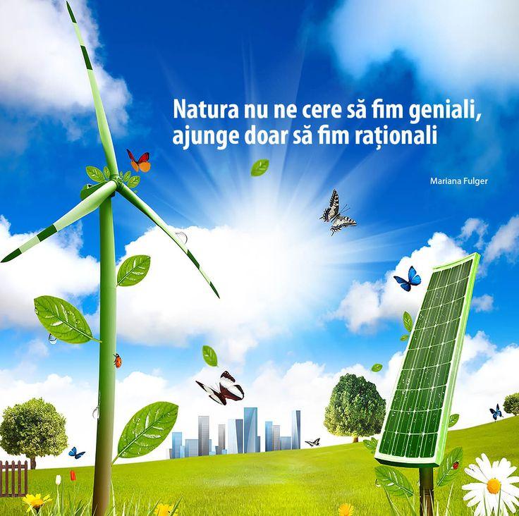 Natura nu ne cere sa fim geniali, ajunge doar sa fim rationali!
