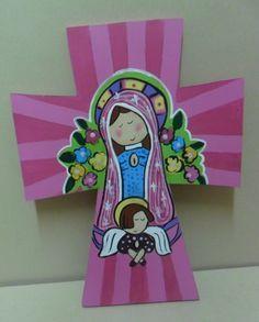 Cruz De La Virgencitas Plis Para Primera Comunion - $ 60.00 en MercadoLibre