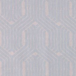 Tekstilvoksduk grå/blå grafisk mønster