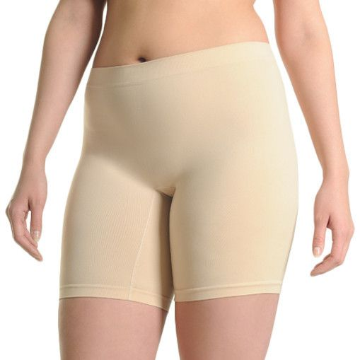 Mid Rise anti chafing panty shorts in beige