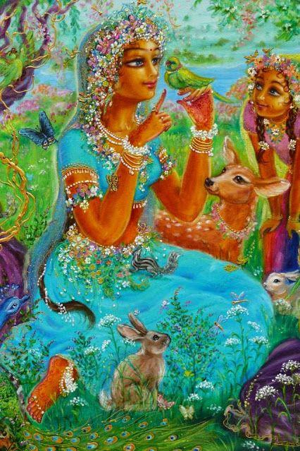 VRINDA DEVI Bhakti Art: Artists Gallery 8 ~ Yugala Priya Devi Dasi - Google+