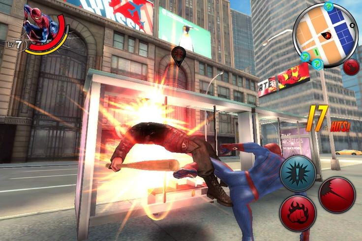 The Amazing Spider-man czyli przygody Człowieka Pająka, pląsającego sobie po Nowym Jorku. Gra prezentuje się nieźle, choć brakuje jej kilku łatek. Może Gameloft je w końcu zaserwuje zniecierpliwionym graczom?;-)