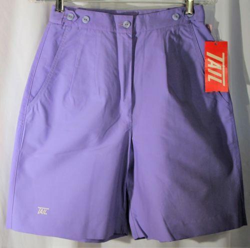 1772502c277 Vintage 1980s Tail Sportswear Women s Shorts Size 8 Purple Pleaded 2 Pocket