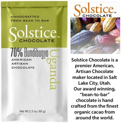 SOLSTICE 70%  UGANDA BUNDIBUGYO CHOCOLATE