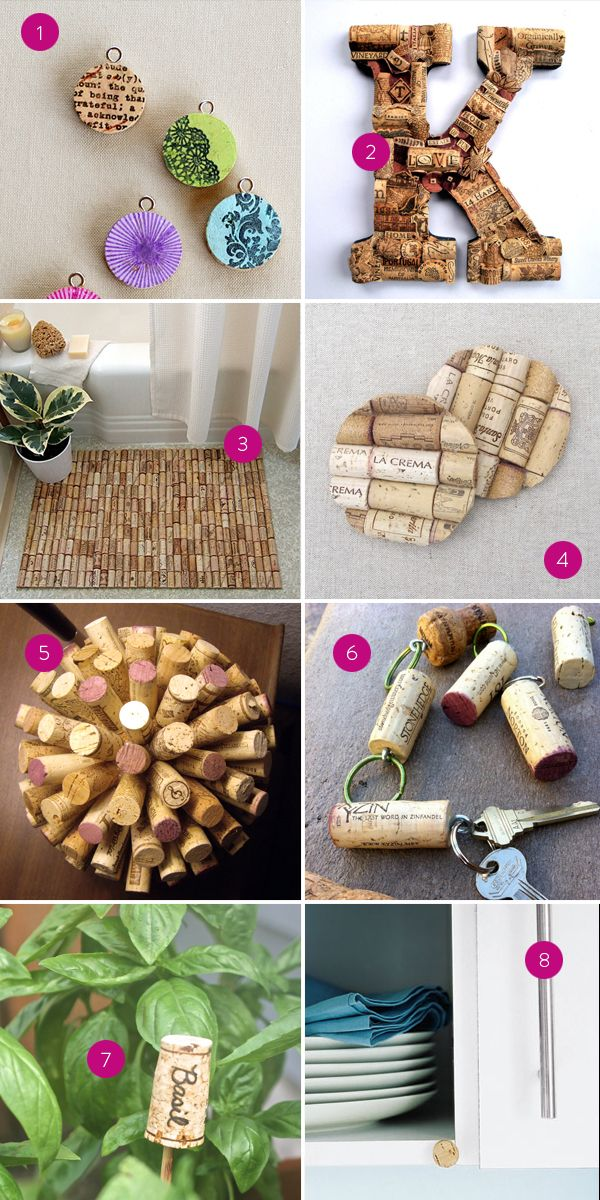 Pinteresting Wine Cork DIYs hi friend