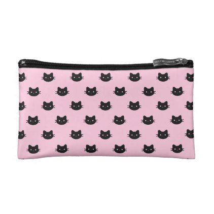 Black Cat Cosmetic Bag  $24.95  by Nimmii  - cyo diy customize personalize unique