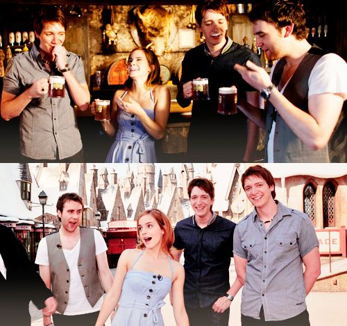 Emma, Matthew, James, and Oliver visiting the Wizarding World of Harry Potter.