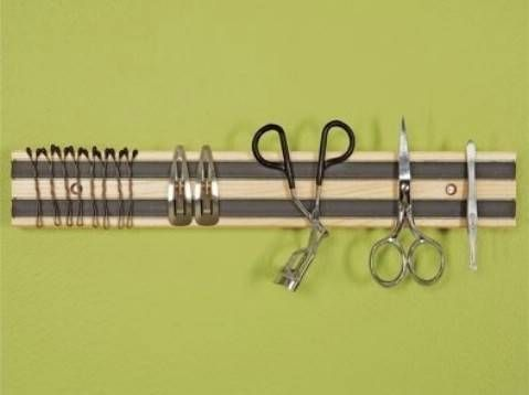 Attach Hygiene Tools to a Magnetic Rack - Top 58 Most Creative Home-Organizing Ideas and DIY Projects