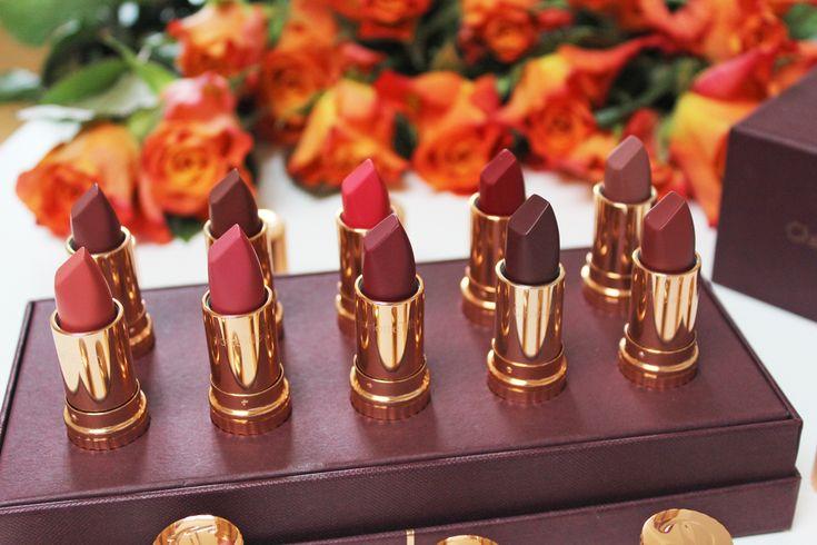 Charlotte Tilbury Matte Revolution Lipsticks in Sexy Sienna, Very Victorian, Walk of Shame, & Red Carpet Red.