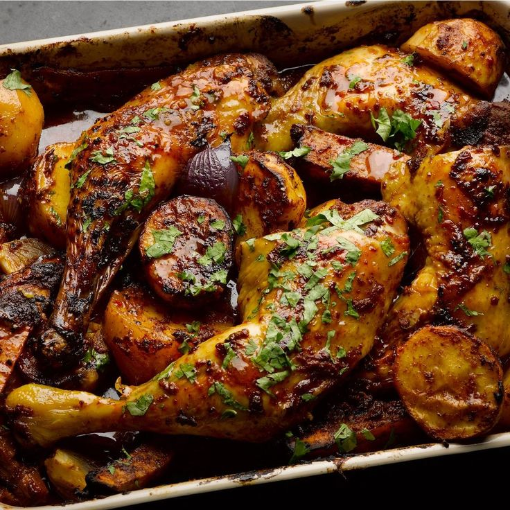Sweet and smoky Mexican chicken I Ottolenghi recipes I Chicken meets chocolate in this rich and distinctive dish