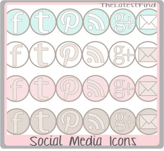 Social media icons - pastelsLatest Finding, Free Social, Blog Stuff, Diy Tutorials, Colors Schemes, Digital Freebies, Blog Design, Social Media Icons, Retrato-Port Digital