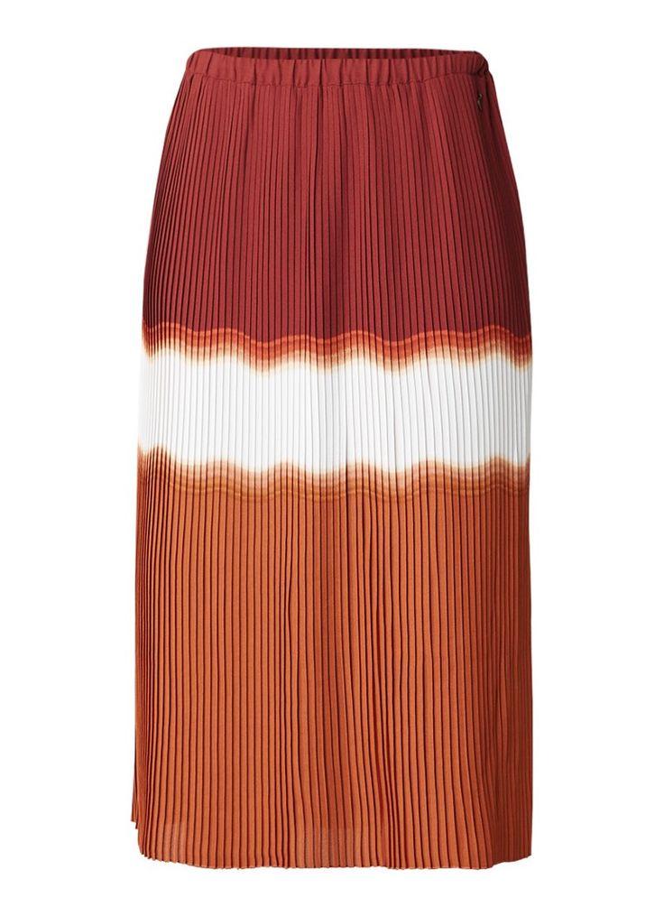 Pepe Jeans Angie midi-rok met tie-dye en plissé online kopen