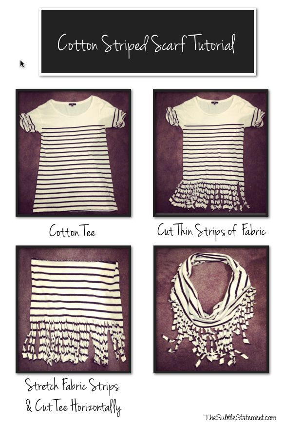 Turn an unflattering tee into an effortless accessory.  All you need is a pair of scissors.