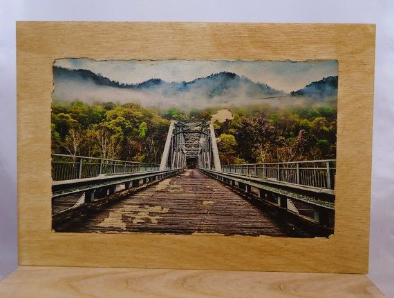 Picture on wood bridge on wood. by VipWood on Etsy