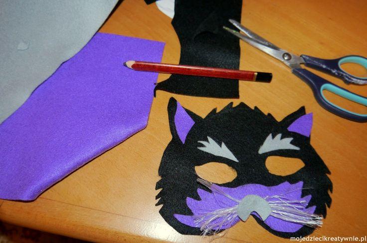 filcowe maski, maski dla dzieci, maski, zwierzątka, maska kota,