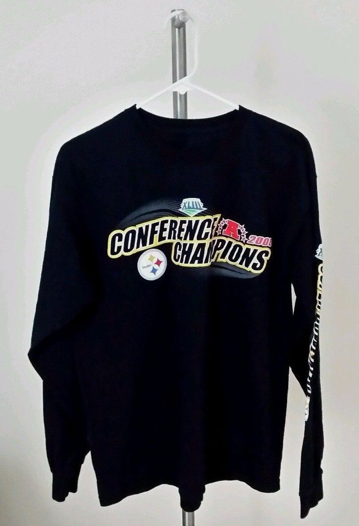 STEELERS SUPER BOWL 43 T-SHIRT LONG SLEEVE BLACK 2008. 176