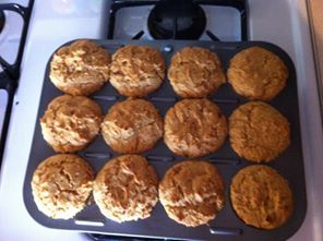 Gluten Free Mama Baker Andrea Sharman made a batch of Pumpkin Muffins using Mama's Almond Blend Flour