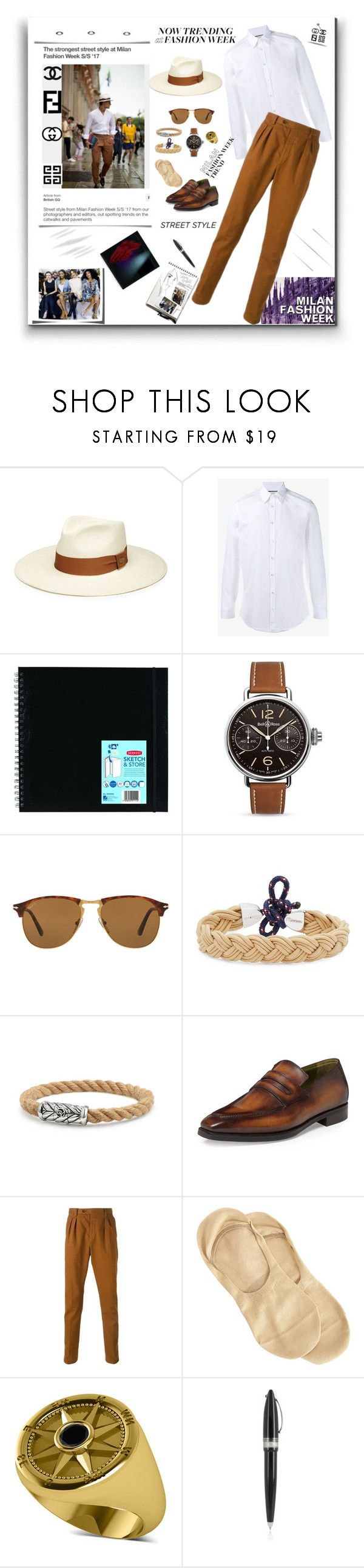 """Men's Fashion week"" by deborah-518 ❤ liked on Polyvore featuring Barbisio, Gucci, Bell & Ross, Persol, MIANSAI, David Yurman, Berluti, Al Duca d'Aosta, Garance Doré and Barneys New York"