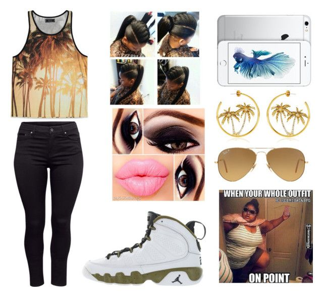 """""""Untitled #301"""" by jasmine1164 ❤ liked on Polyvore featuring moda, Forever 21, Juicy Couture, Retrò, Ray-Ban e H&M"""