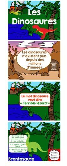 Dinosaures - Voici une présentation Power Point à montrer à vos élèves au début du thème des dinosaures.