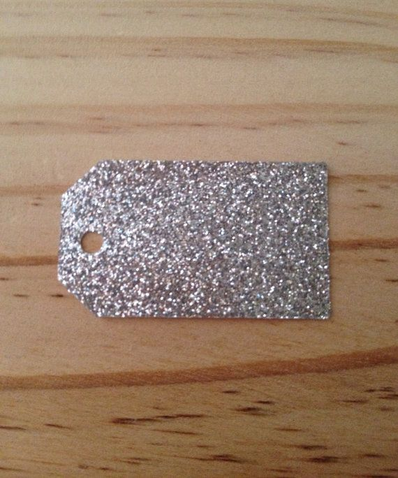 Silver Glitter Tags  Lot of 100 tags. by TypeWright on Etsy