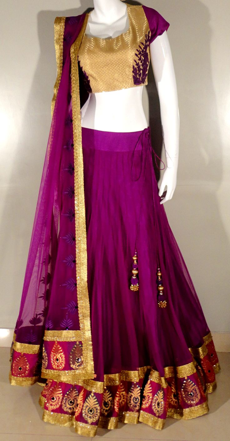 Indian# Bollywood# Design# Purple# Ghagra Choli# Vitamin by Sonalika# Sonalika Pradhan