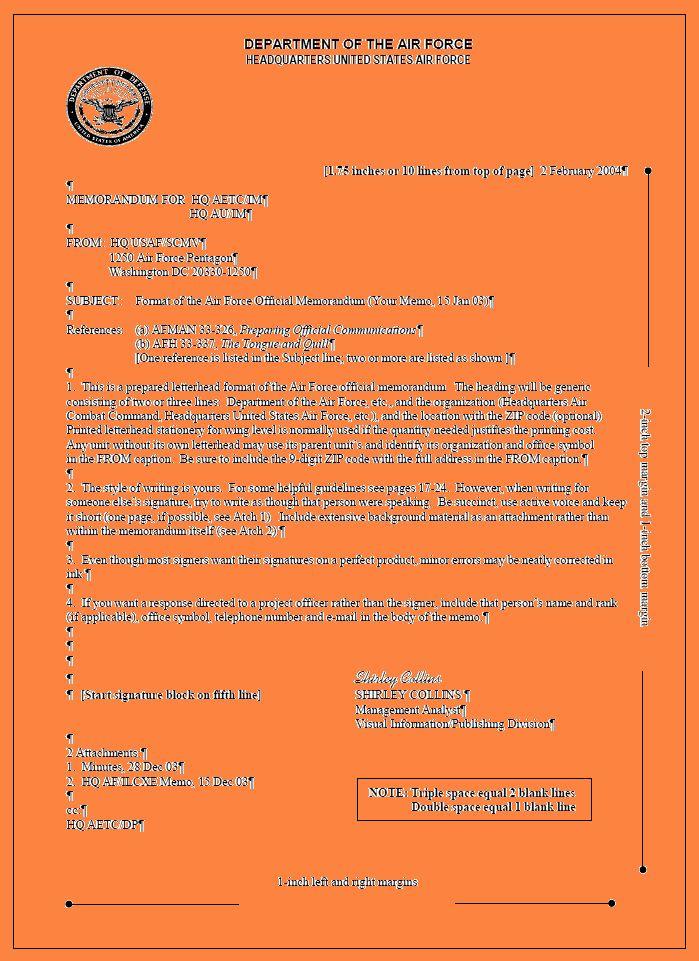 Air Force Memorandum Template Elegant 10 Department Of The Air Force Letterhead Template Memorandum Template Memorandum Letterhead Template
