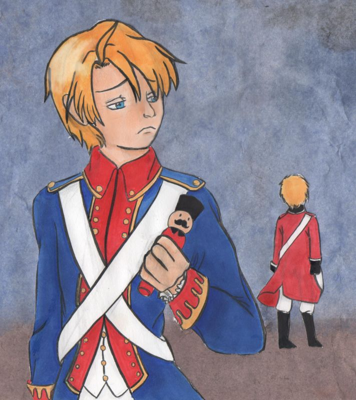 hetalia axis power hetalia APH England America american revolution draw art work copic marker water color