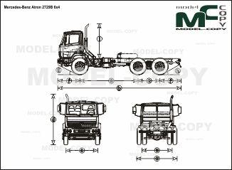 Mercedes-Benz Atron 2729B 6x4 - чертеж
