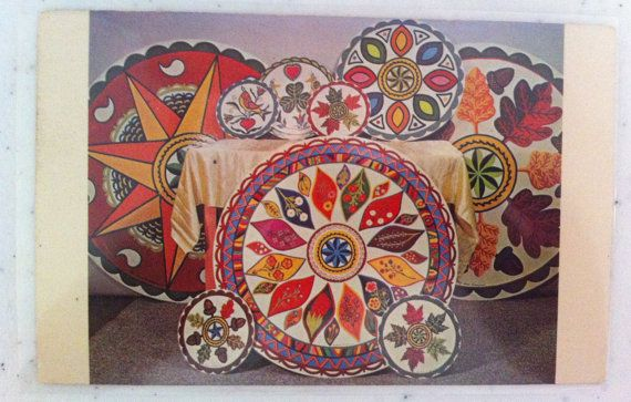 Postcard Hex Signs by Johnny Claypoole by LorasVintageShop on Etsy