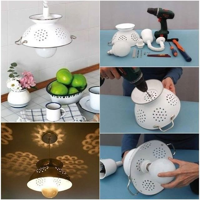 How to DIY Cool Colander Pendant Lamp   www.FabArtDIY.com LIKE Us on Facebook ==> https://www.facebook.com/FabArtDIY