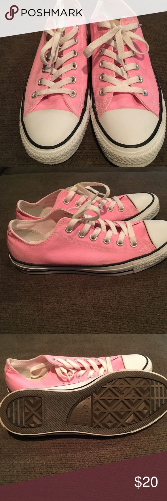 Converse Chuck Taylor Sneakers All Star Classic Chuck Taylor Sneakers Pink Lightly Worn Converse Shoes Sneakers