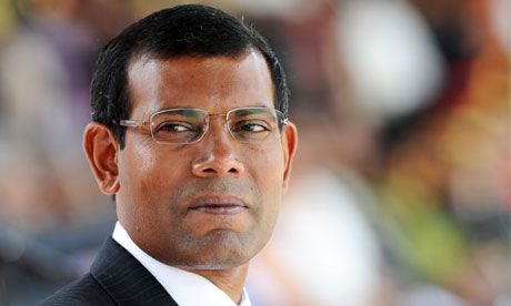 Mohamed Nasheed: Bastion of Democracy - leader in the fight against Climate Change. Unafraid to stand up to his torturers, in fact ousted them by winning the first democratic elections in the Maldives in 2008 - ousted himself by the old regime in jan 2012. I hope you are safe.