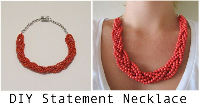 DIY Jewelry DIY Necklace DIY Coral Statement Necklace