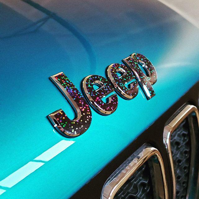 Holographic Crystal Jeep Wrangler Jl 2018 2019 2020 Gem Glitter Decal Fender Emblem Overlay Saha In 2020 Crystals Custom Decals Wrangler Jl